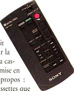Télécommande Sony DCR VX 1000