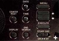 réglages Sony TRV 70E