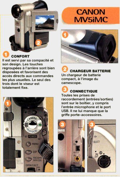 Détail Canon MV5iMC