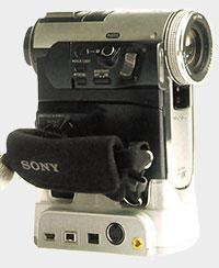 Sony PC 350 dans sa station d'accueil