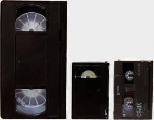 Cassette VHS Cassette VHS-C et Cassette Video8
