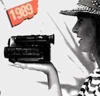 1989 caméscope de paume