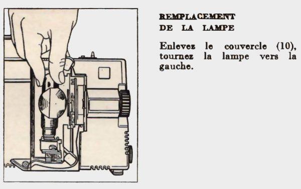 Remplacement de la lampe Bauer T3