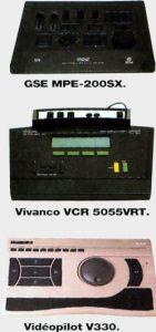 GSE MPE-200SX Vivanco VCR 5055VRT Vidéopilot V330