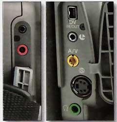Connectique Canon XM2