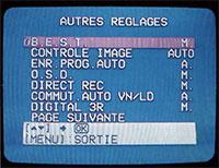 réglages image JVC-HR-S8600