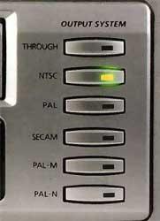 Bouton de conversion de standard Samsung SV 5000 W