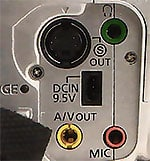 Connectique Canon MV30