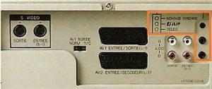 Connectique arrière JVC HM DR 10000