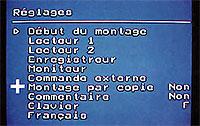 Configuration matériels VideoCut 230CTI