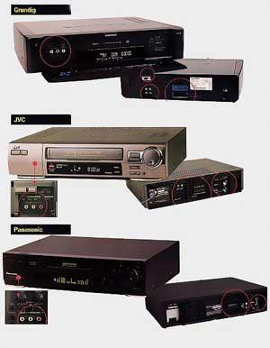 Comparatif 3 magnétoscopes VHS de montage