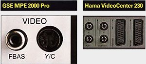 Connexions GSE MPEE 2000 Pro & HamaVideoCenter 230