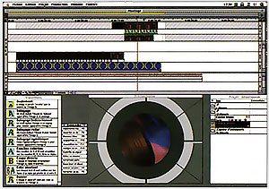 Interface Adobe Premiere 4.2 LE Mac
