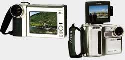 Sony DCR SC100 avec Sharp VLD C3S