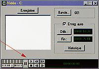 Fenètre Dérushage Videonics MediaMotion 3