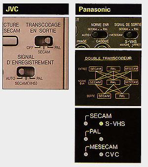 Transcodage 3 SVHS de montage