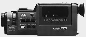 Coté gauche Canon E70