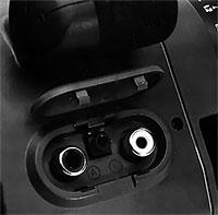 entrée audio-vidéa sur prise cinch Canon E808