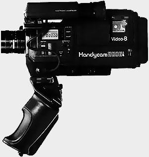 Sony EVC-X10 avec sa poignée