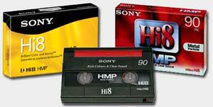 cassettes format Hi8