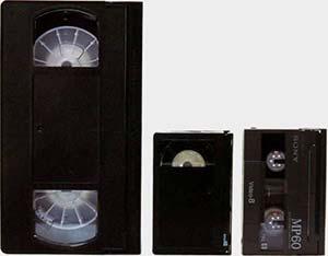 cassettes vidéo analogique